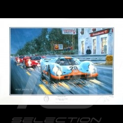 "Porsche Poster 917 KH n° 20 Film Le Mans 1970 "" Moving Picture """