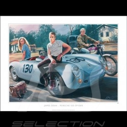 Porsche 550 Spyder James Dean / Ursula Andress 1955 original drawing by Benjamin Freudenthal