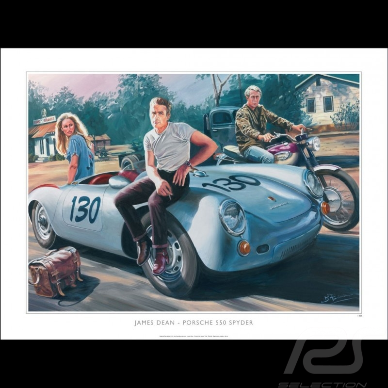 4434082ad9a4 Porsche 550 Spyder James Dean   Ursula Andress 1955 original drawing by  Benjamin Freudenthal - Selection RS