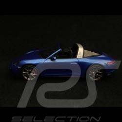 Porsche 911 Targa 4S type 991 2017 1/43 Spark S4977 bleu saphir métallisé sapphire blue metallic saphirblau metallic