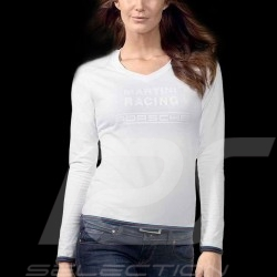 T-shirt Porsche Martini Racing Collection Porsche Design WAP672 - femme woman damen manches longues blanc long sleeves white lan
