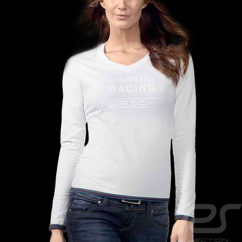 Martini Racing Ladies Long sleeve T-shirt White