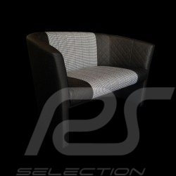 Fauteuil 2 places cabriolet Racing Inside Pepita noir / blanc tub chair tubstuhl
