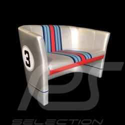 Two-places Tub chair Racing Inside n° 3 grey Racing team / red