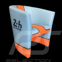 Fauteuil cabriolet Racing Inside 24H Le Mans bleu Racing team / orange tub chair tubstuhl