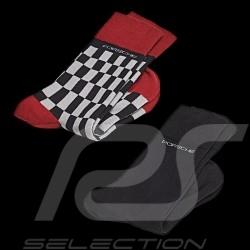 Chaussettes Socks Socken Porsche 2 paires gris rouge noir Porsche Design WAP423 / WAP424 - mixte