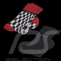 Porsche Socks 2 pairs grey red black Porsche WAP423 / WAP424 - Unisex