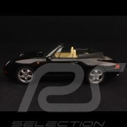 Porsche 911 type 993 Carrera Cabriolet 1994 black 1/18 Norev 187595