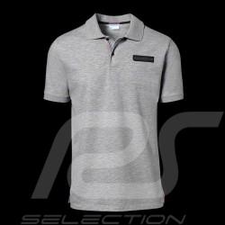 Porsche polo shirt Classic Collection light grey flecked Porsche Design WAP718 - men