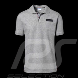 Porsche polo shirt Classic Collection light grey flecked Porsche Design WAP718K - men
