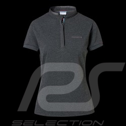 Porsche polo shirt Classic Collection dark grey flecked Porsche Design WAP717K - women