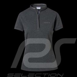 Porsche polo shirt Classic Collection dark grey flecked Porsche Design WAP717K - women