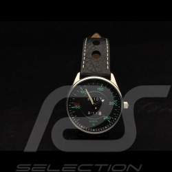 Automatic Watch 911 Classic  speedometer chrome case / black dial / green numbers