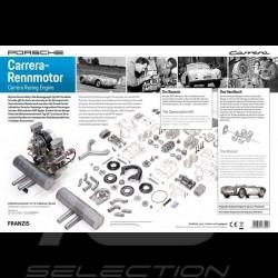 Porsche 550 type 547 Fuhrmann moteur boxer 4 cylindres 1/3 à monter MAP09054718 engine kit Motor Bausatz