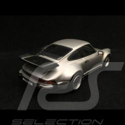 Porsche 911 Turbo 3.3 type 930 1989 silver 1/43 Kyosho 05525S