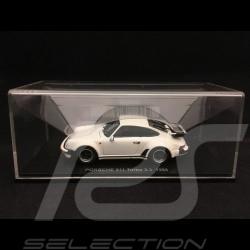 Porsche 911 Turbo 3.3 type 930 1989 1/43 Kyosho 05525W blanche white weiß