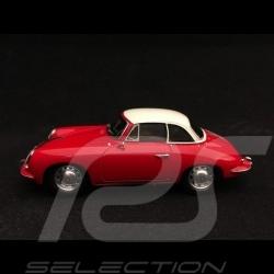 Porsche 356 C Cabrio Hard Top 1963 rouge/ blanc 1/43 Spark S4922