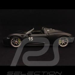 Porsche 918 Spyder Pack Weissach 1/18 Minichamps 110062444 noir mat matte black matt schwarz