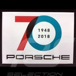 Plaque aimantée Porsche 70 ans 1948 - 2018