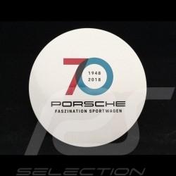 Autocollant Sticker Aufkleber Porsche 70 ans 1948 - 2018 pour l'intérieur de la vitre