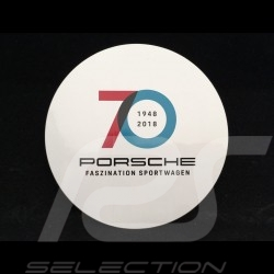 Porsche Sticker 70 years 1948 - 2018 for the inside of glasses