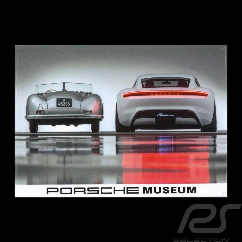 Plaque aimantée Magnet Porsche 70 ans 356 n°1 - 1948 / Mission e - 2018 version 1 vue de face