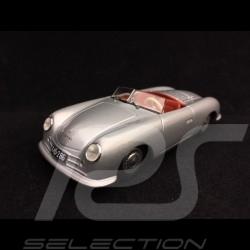Porsche 356 n° 1 roadster 1948 1/43 Minichamps MAP02000118 gris argent 70 ans silver grey 70 years silbegrau 70 jahre