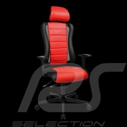 Siège de bureau ergonomique Sitness RS Sport Rouge indien / noir basalte simili cuir fauteuil gamer Made in Germany burostuhl ar