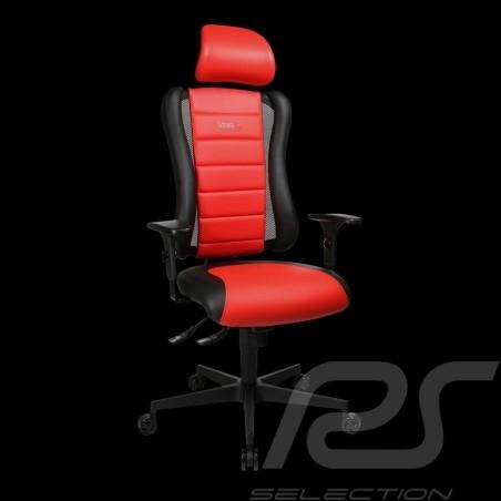 Siège de bureau ergonomique Sitness RS Sport Rouge indien / noir basalte simili cuir fauteuil gamer Made in Germany burostuhl ar