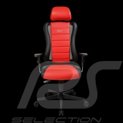 Ergonomic office armchair Sitness RS Sport Guards red / black leatherette gaming chair Made in Germany