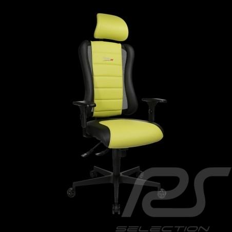 Siège de bureau ergonomique Sitness RS Sport Vert lumière / noir basalte simili cuir fauteuil gamer Made in Germany burostuhl ar
