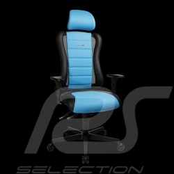 Siège de bureau ergonomique Sitness RS Sport Bleu riviera / noir simili cuir fauteuil gamer Made in Germany burosthul armchair