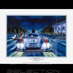 "Poster Porsche 936 n° 4 Martini 24h du Mans 1977 "" Ma plus grande course "" 30x40"