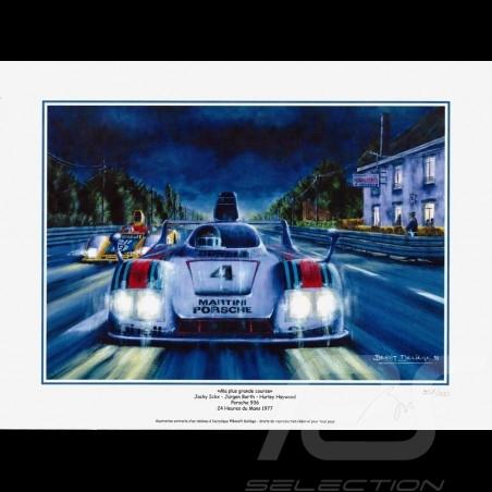 "Porsche Poster 936 n° 4 Martini 24h du Mans 1977 "" Ma plus grande course "" 30 x 40"