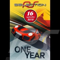 Affiche originale Selection RS 1er anniversaire du showroom Poster Plakat