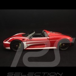 Porsche 918 Spyder Pack Weissach red / white stripes 1/18 Minichamps 110062442