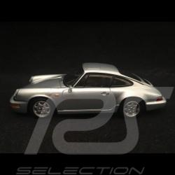 Porsche 911 Carrera 4 type 964 1989 1/43 Spark SDC018 gris argent metallisé silver grey silbergrau metallic