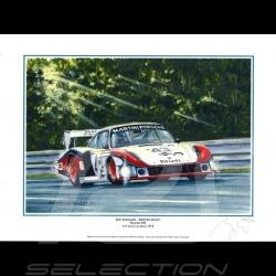 "Poster Porsche 935 n° 43 Martini 24h du Mans 1978 "" Moby Dick "" 30x40"