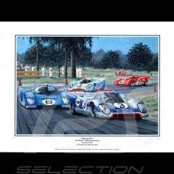 Poster Porsche 917 K n° 3 Martini vainqueur 12h de Sebring 1971 30x40
