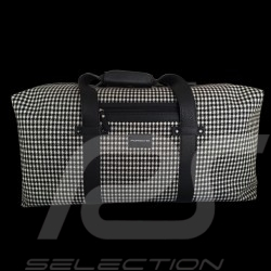 Porsche Luggage big travel bag 911 classic Pepita houndstooth / black leather