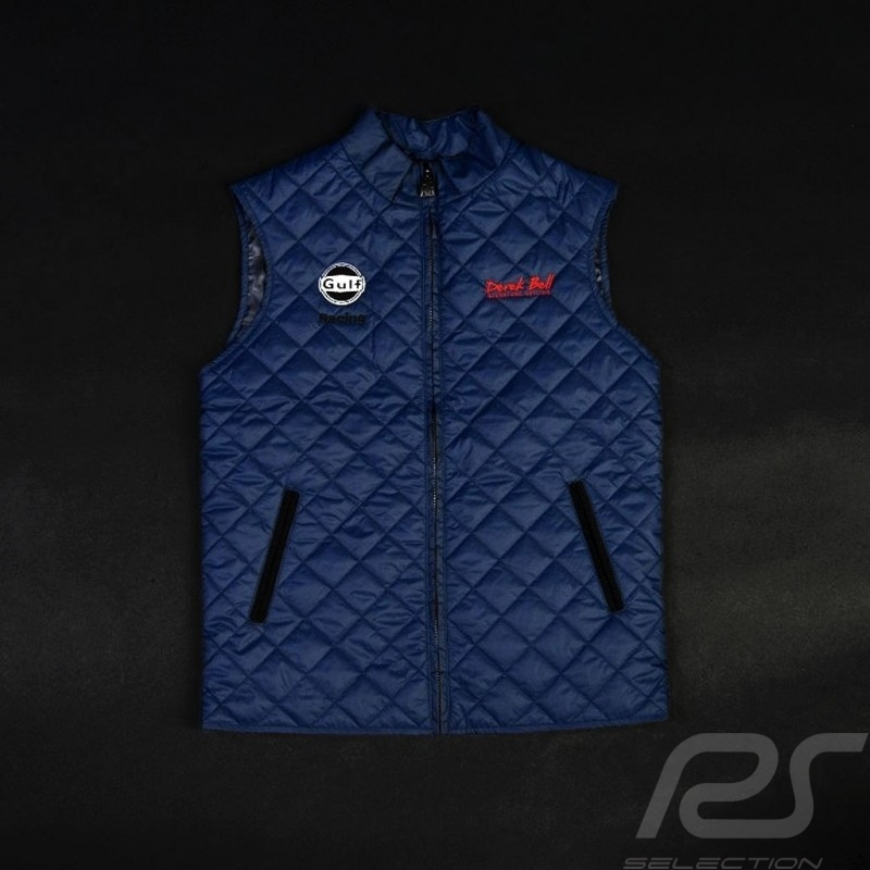 Sporty quilted jacket Derek Bell no sleeves navy blue - men