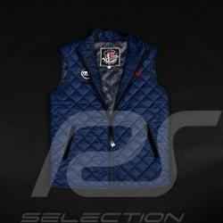 Veste sport matelassée Derek Bell sans manches bleu marine quilted jacket Gesteppte Jacke