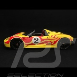 Porsche 918 Spyder 2015 Weissach Package yellow / red 1/18 Minichamps 110062446