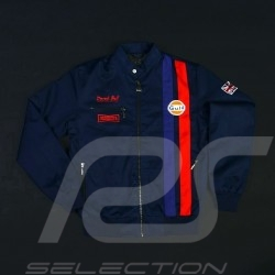 Gulf Racing  jacket Derek Bell signature navy blue - men