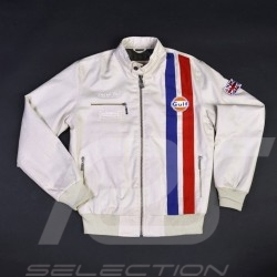 Gulf Racing  jacket Derek Bell signature beige - men