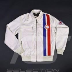 Veste Gulf Racing Derek Bell signature beige - homme jacket jacke