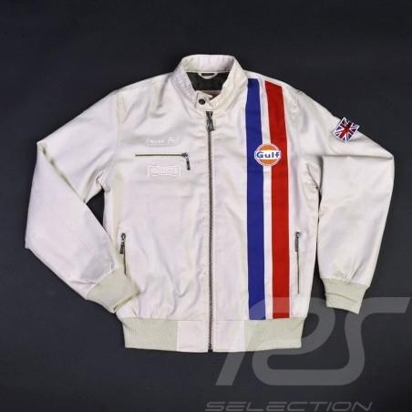 Gulf Racing  jacket Derek Bell signature beige - men
