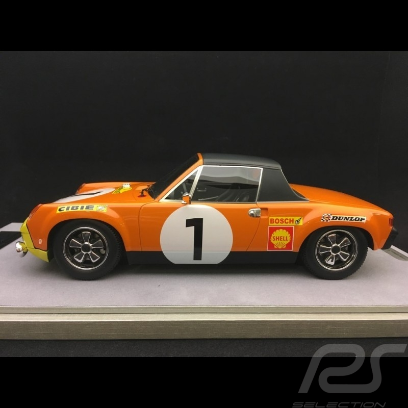 Porsche 914 /6 vainqueur winner Sieger Marathon de la route 1970 n° 1 Larousse 1/18 Tecnomodel TM1883D