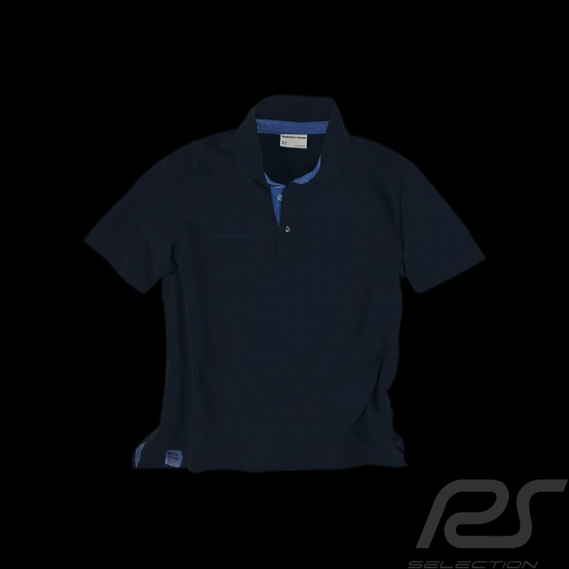 Polo Porsche Classic Metropolitan Collection Porsche Design WAP961 bleu marine navy blue marineblau - homme men herren