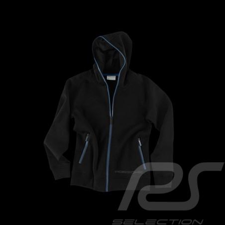Porsche Sweat Jacket Metropolitan Collection Hoodie black / blue - men